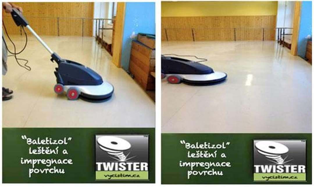 Čištění sportovních podlah
